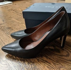 Cole Haan Idala II Black Leather Heels Pump 7B
